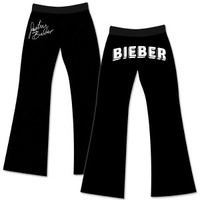 Justin Bieber Black Logo Sweatpants