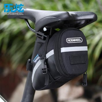 ROSWHEEL 1.2L Portable Waterproof Bike Saddle Bag Cycling Seat Pouch Bicycle Tail Rear Pannier