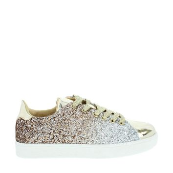 Ombre Glitter Lace Up Sneaker