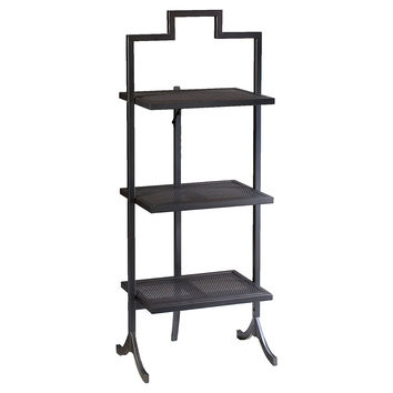 French Heritage, Ardmore Folding Table, Black, Large, Standard Side Tables