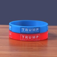 High Quality Support Trump Silicone Bracelets Make America Great Again 2 Colors Silicone Wristband Classic Jerwerly