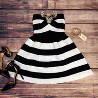 HELLO SAILOR DRESS IN BLACK