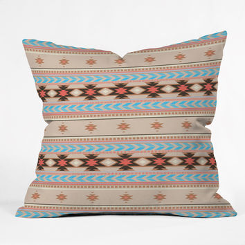 Gabi Niyol Blue Outdoor Throw Pillow