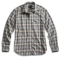 Lucky Brand Dragster 1 Pocket Shirt Mens - Gray Plaid
