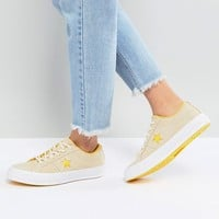 Converse One Star Ox Sneakers In Yellow Suede at asos.com