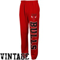 Mitchell & Ness Chicago Bulls Fleece Sweatpants - Red