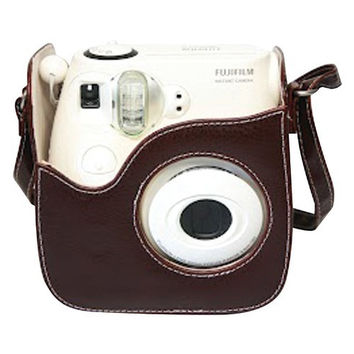Fujifilm Instax Mini 8 Brown Leather Case (pack of 1 Ea)