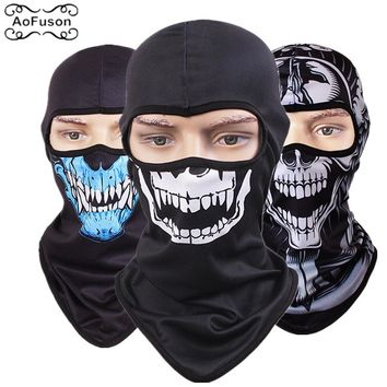 Full Face Skull Mask Quick-drying Breathable Riding Hiking Sking Motorcycle Scarf Head Windproof Sunscreen 3D Cs Caps Skull Mask