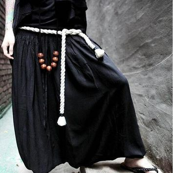 Japanese Harajuku Personality Haren Pants Mens Loose Gothic Punk Casual Street Fashion Trousers Free Shipping