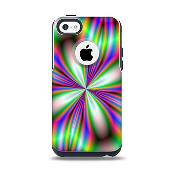 The Neon Tie-Dye Flower Apple iPhone 5c Otterbox Commuter Case Skin Set