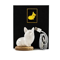 Premium Small Corgi Porcelain Light Sensitive Night Lamp