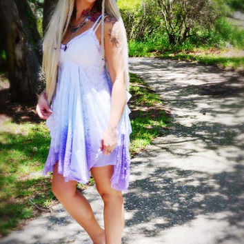 Sale wanderlust festival gypsy dress, pixie sundress, woodland ombre, True rebel clothing