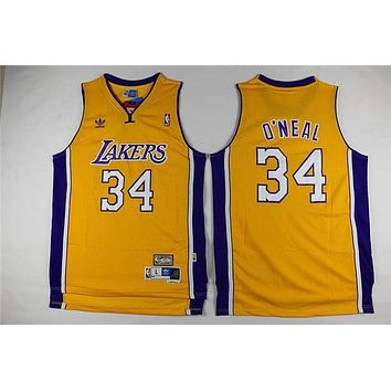 La Lakers #34 Shaquille O'neal Swingman Jersey | Best Deal Online