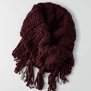 AEO Fringe Snood , Burgundy