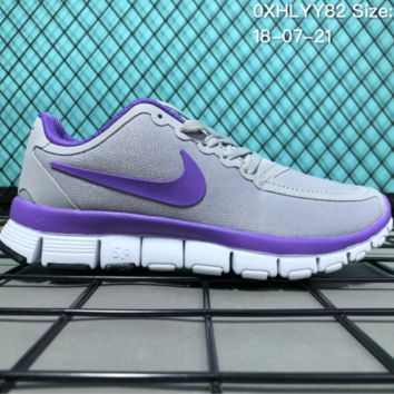HCXX N081 Nike Air Zoom Free RN 5.0 Breathable Causal Running Shoes Grey Purple