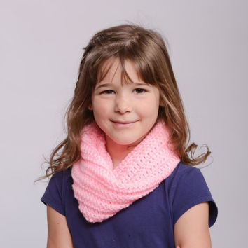 Crochet Cowl Scarf - One Color -  Warm and Cozy - Tight fit - All sizes available - All colors available