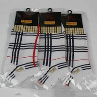 Burberry Woman Men Cotton Socks