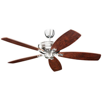 Monte Carlo BKIT-5RYEP-MC5B250 Royalton 60-Inch English Pewter Ceiling Fan with Dark Distressed Walnut Blades