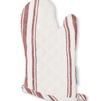 French Stripe Oven Mitt, Red