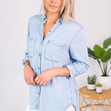 Stand Out Denim Top- 2 Options