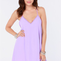 Amour the Merrier Lavender Lace Dress