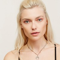 Free People Blake Pave Diamond Horn Necklace