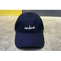 MADNESS MDNS 2018 summer new sunshade cap embroidery letter cap F-Great Me Store Blue