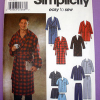 Men's Pajamas and Robe Size Large, X-Large Simplicity 7045 Sewing Pattern Uncut