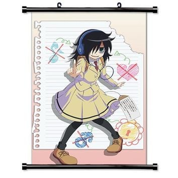 WataMote (Watashi Ga Motenai) Anime Fabric Wall Scroll Poster (16 x 24) Inches