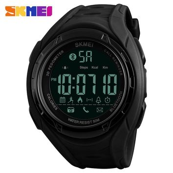 SKMEI Bluetooth Smart Watch Men Fashion Sports Watches Pedometer Calories Waterproof Digital Wristwatches For Apple IOS Android