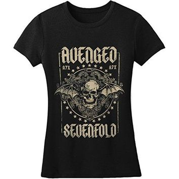 Avenged Sevenfold Women's Stars Girls Jr Soft tee XX-Large Multi