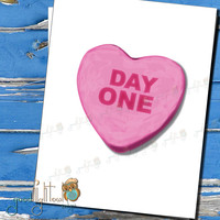 Candy Sweetheart Card, Funny Valentine Card,  Day One , cheeky card, love cards