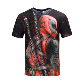 Deadpool Cosplay Costume T shirt Men's 2018 New Summer Top Funny T-shirts Camisetas Hombre Halloween Carnival Costumes For Men