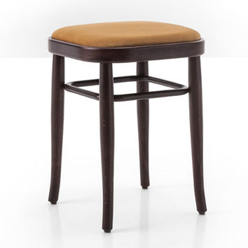 Gebruder Thonet Vienna 144 Bentwood Stool (Upholstered) by GTV