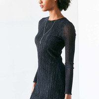 Kimchi Blue Claudia Shimmer Stripe Mesh Dress - Urban Outfitters