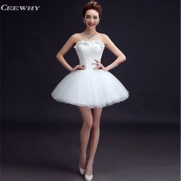 CEEWHY Sweetheart Short Ball Gown Formal Party Dress Above Knee Robe de Cocktail Dresses Short Wedding Party Homecoming Dresses