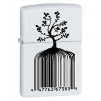 Zippo White Matte Indentity Bar Code Lighter