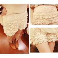 SEXY LACE CROCHET SUMMER SHORTS