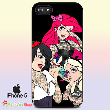 Disney Princess Punk and Tattoo iPhone Case Galaxy Case