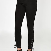 PacSun Black Velvet High Rise Jeggings at PacSun.com