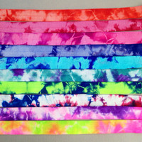 Tie Dye Fold Over Elastic - FOE Elastic -Headbands 5 Yards by Elastic Hair Bandz on Etsy