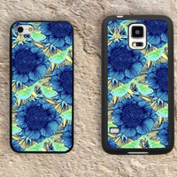 Blue flower iPhone Case-Mandalas iPhone 5/5S Case,iPhone 4/4S Case,iPhone 5c Cases,Iphone 6 case,iPhone 6 plus cases,Samsung Galaxy S3/S4/S5-096