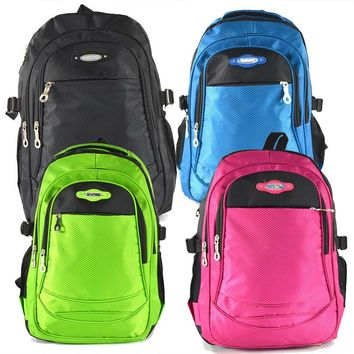 Pure Candy Color Zipper Backpack School Bag