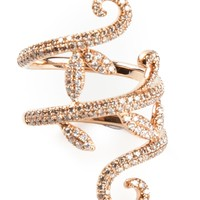 Elise Dray Gold And Diamond Pavé Demi Flower Ring - Jewellery Atelier - Farfetch.com