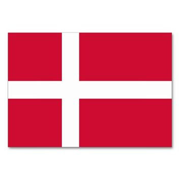 Patriotic table card with Flag of Denmark