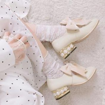 You are my favorite day dream - Dream girl pearly shoes with mid-heel