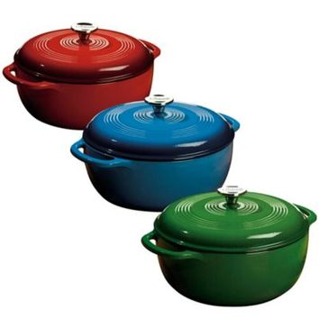 Lodge 6 qt. Enameled Cast Iron Dutch Oven