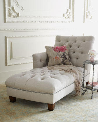"""""""Maddox"""" Tufted Chaise - Horchow"""