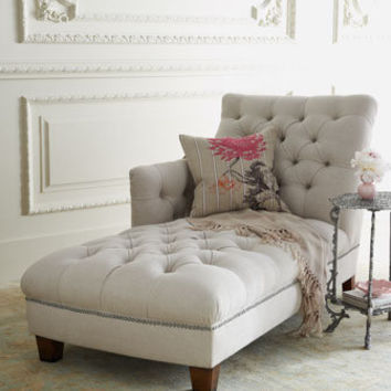 """Maddox"" Tufted Chaise - Horchow"