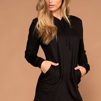 Frankie Black Sweatshirt Dress